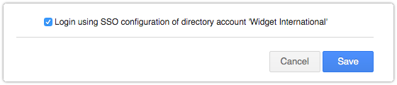 SSO Configuration of Directory Account